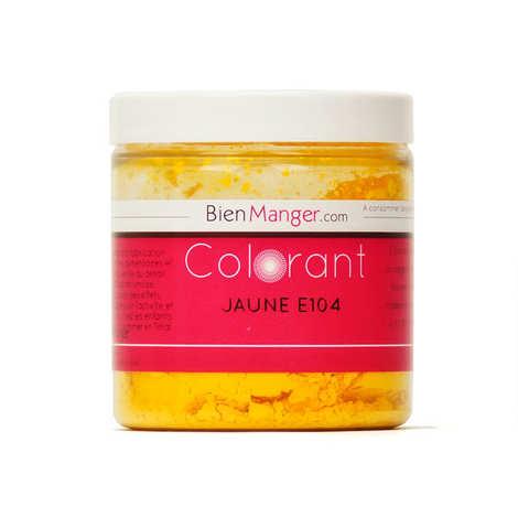 BienManger aromes&colorants - Colorant alimentaire jaune E104 - Poudre hydrosoluble