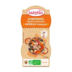 Baby Bio - Bols repas bio aubergine façon moussaka, dès 8 mois