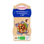 Baby Bio - Bols repas bio ratatouille et riz, dès 12 mois