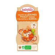 Baby Bio - Bols repas bio poulet quinoa, dès 12 mois