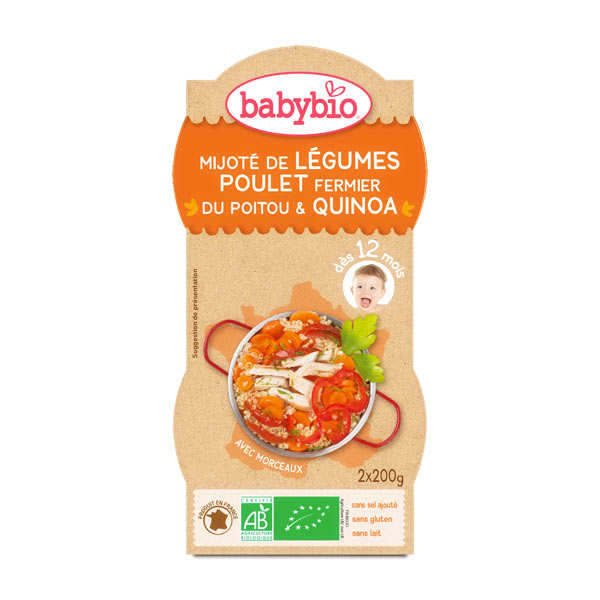 Organic quinola and chicken Baby food jar from 12 months