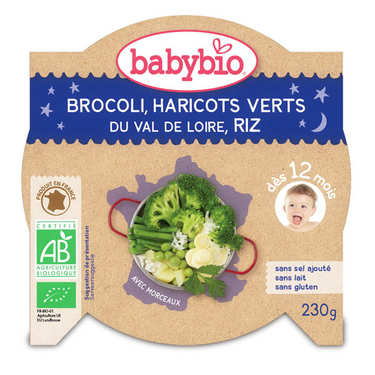 Organic rice and green vegetables Baby food jar from 12 months