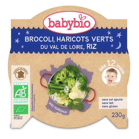 Baby Bio - Organic rice and green vegetables Baby food jar from 12 months