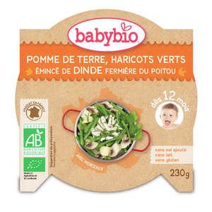 Baby Bio - Assiette bio légumes et dinde, dès 12 mois