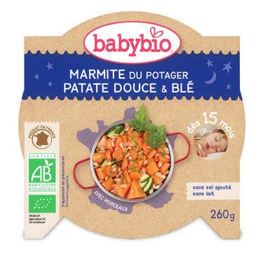 Assiette bio patate douce et blé, dès 15 mois