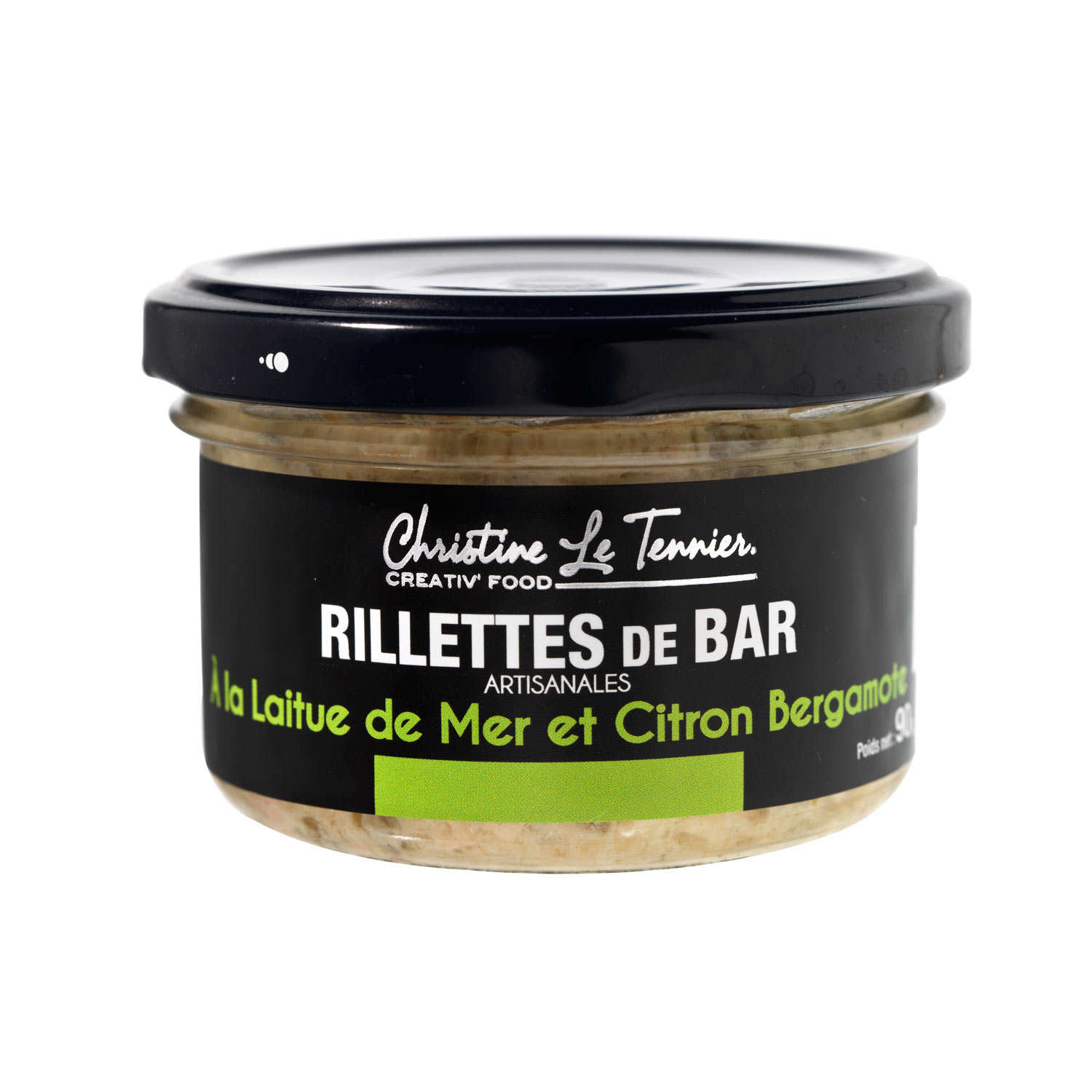 Bass Rillettes flavoured with Lettuce from the Sea and Bergamot Orange