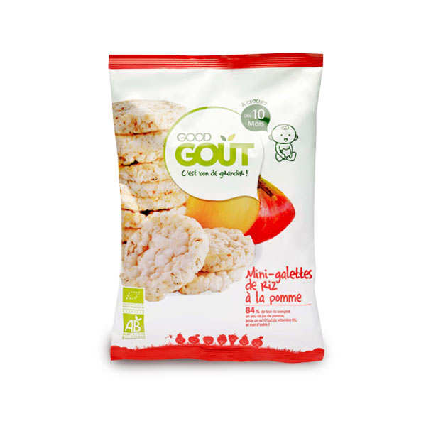 Organic Mini Rice Crackers with Apple - From 10 months