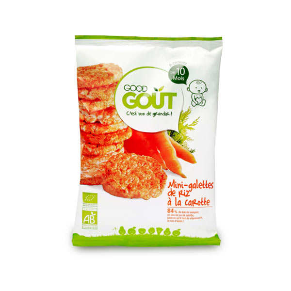 Organic Mini Rice Crackers with Carrot - From 10 months