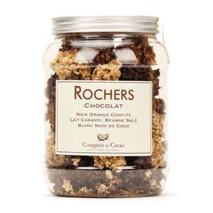 Comptoir du cacao - Boite assortiment de chocolats rochers - Comptoir du cacao