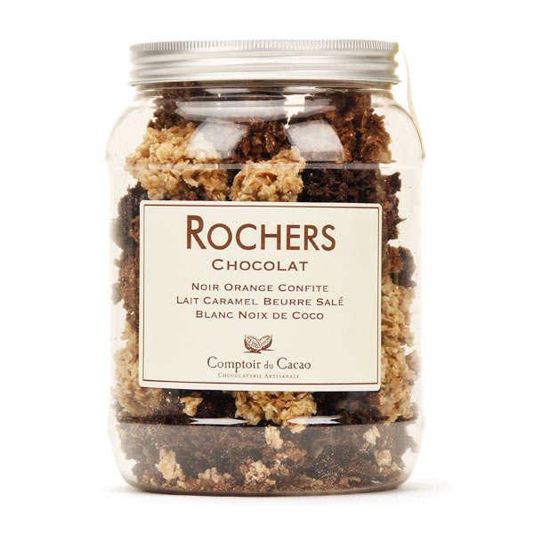 Boite assortiment de chocolats rochers - Comptoir du cacao