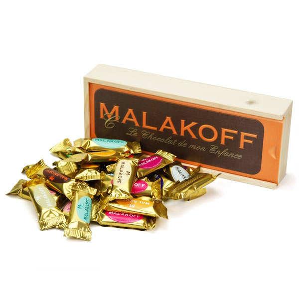 Plumier 27 mini chocolats Malakoff au lait