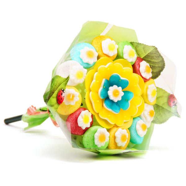 Bouquet de bonbons fleurs gourmandes
