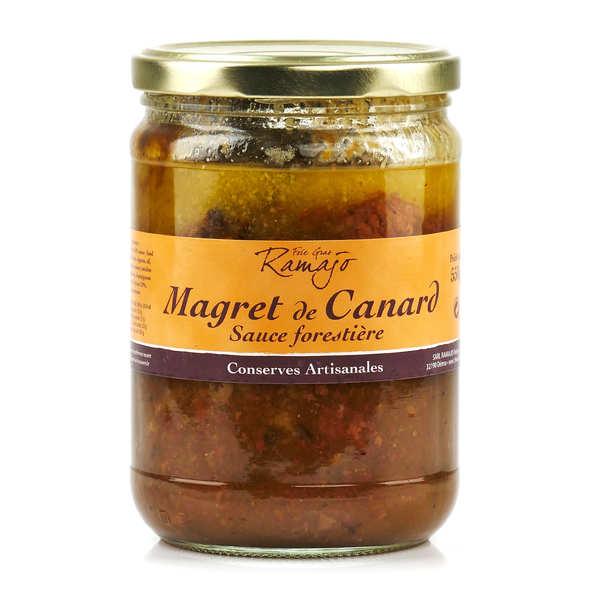 Magret de canard sauce forestière du Gers