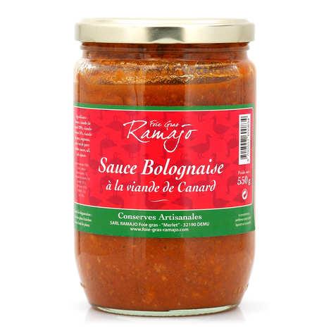 SARL Ramajo Foie Gras - Sauce bolognaise à la viande de canard