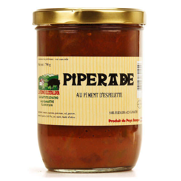 Piperade au piment d'Espelette