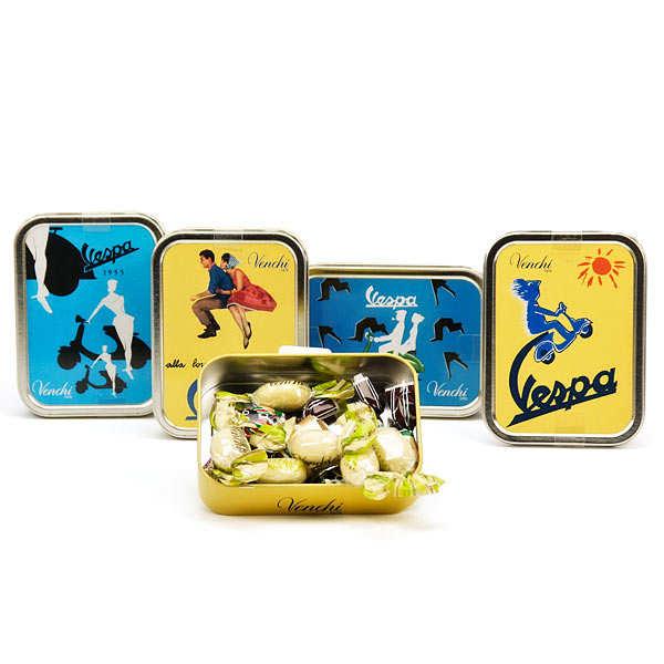 Vespa Mini Metal Box with Venchi Chocolate