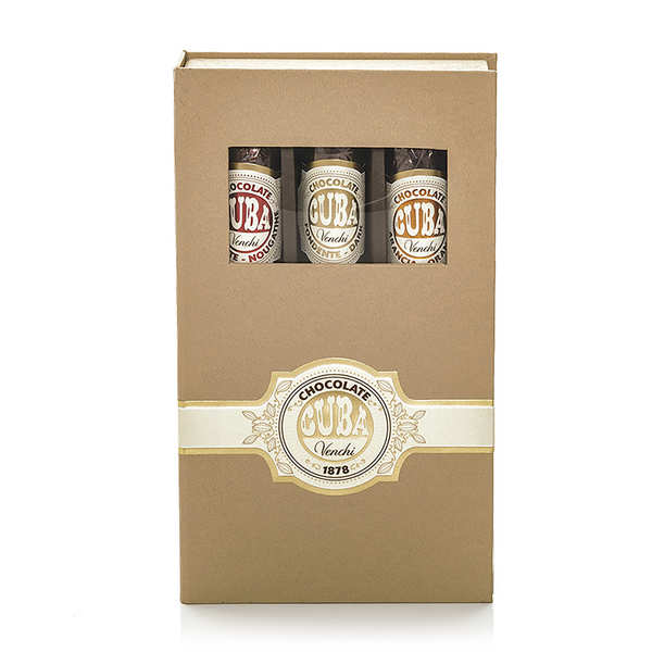 Chocolate Cigars Wooden Box 3 flavours