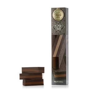 Venchi - Triple Extra Dark Chocolate Bar Cubigusto