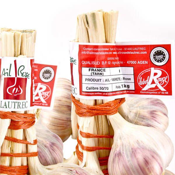 Ail rose de Lautrec (IGP) en tresse Label Rouge