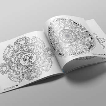 BienManger.com - Cahier de mandalas à colorier - Noël Gourmand