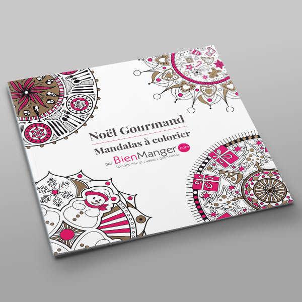 Cahier de mandalas à colorier - Noël Gourmand