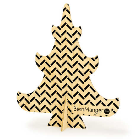BienManger.com - Christmas tree in wood to decorate