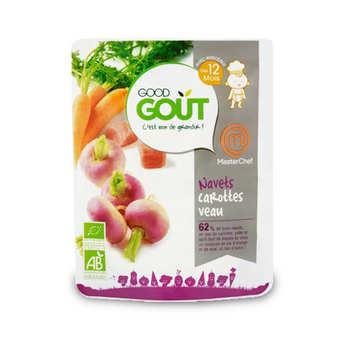 Good Goût - Navets, carottes et veau - Petit plat  bio dès 12 mois