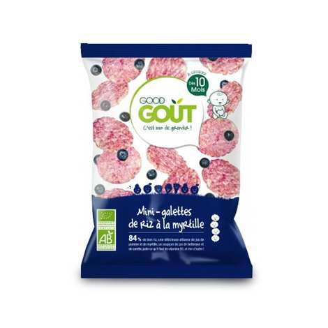 - Organic Mini Rice Crackers with Bilberry - From 10 months