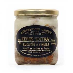 Conserves Garde - Cèpes extra entiers de France cuisinés à l'huile