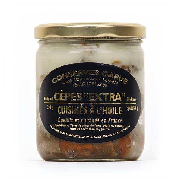 Preserved Head Cep Mushrooms in Oil