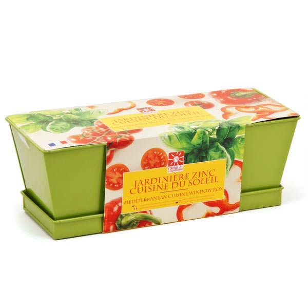 Jardinière cuisine du soleil (tomates cerises, basilic et poivrons à faire pousser)