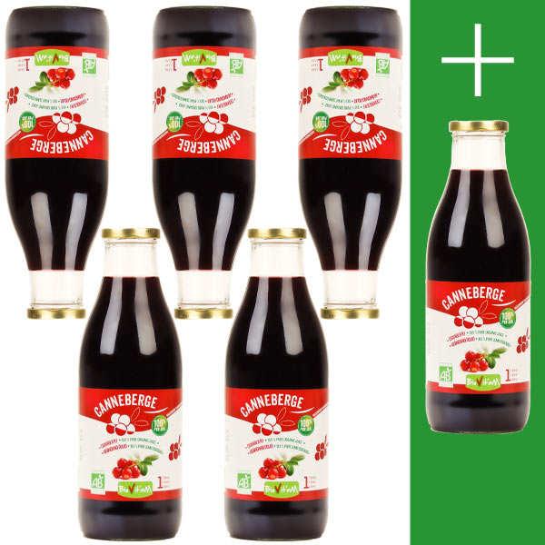 Pur jus de cranberry bio 5L + 1L offert