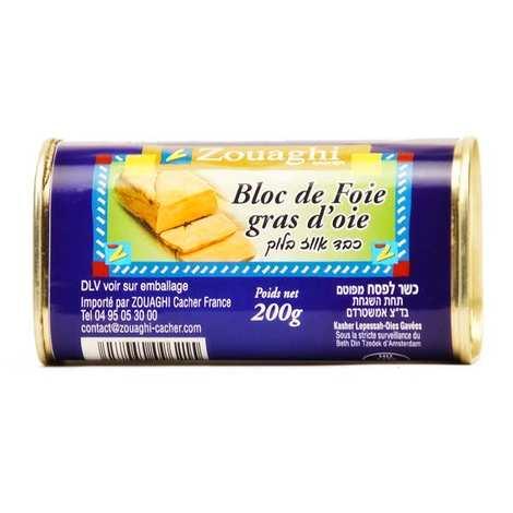 Zouaghi - Bloc de foie gras d'oie casher