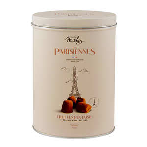 Chocolat Mathez - Cacoa Truffles in Parisiennes Tin Box