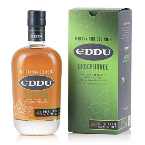 Distillerie des Menhirs Eddu - Eddu Silver Brocéliande - Whisky breton 42%