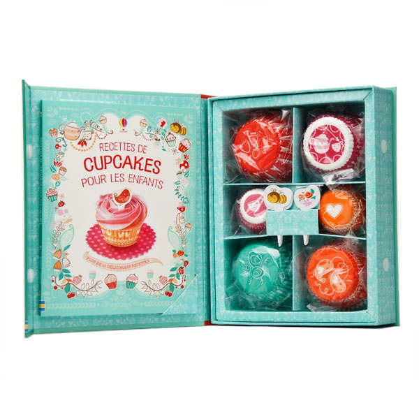 Cupcakes for children set (Book in French)