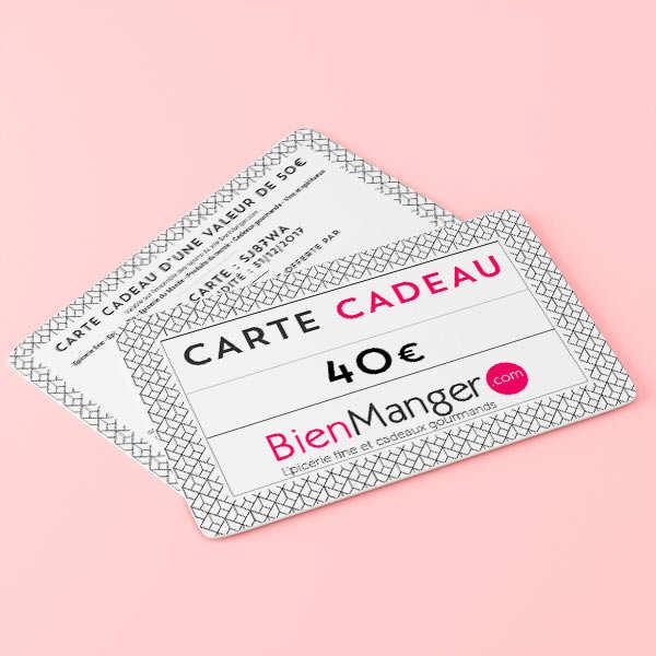 Carte cadeau BienManger.com 40€
