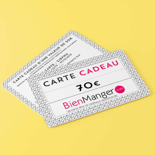 Carte cadeau BienManger.com 70€