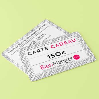 BienManger paniers garnis - Carte cadeau BienManger.com 150€