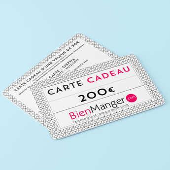 BienManger paniers garnis - Carte cadeau BienManger.com 200€