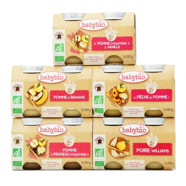 pack fruit pour b b d s 4 mois 10 petits pots achat cuisine en. Black Bedroom Furniture Sets. Home Design Ideas