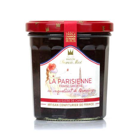 Maison Francis Miot - La Parisienne - confiture de fraise, griotte et coquelicot de Nemours