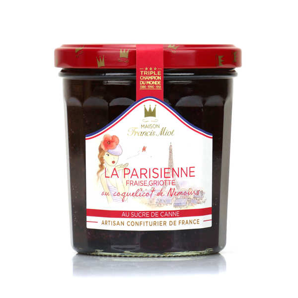 La parisienne jam (strawberry, black cherry and red poppy)