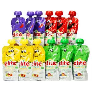 Elite Naturel - 12 Elite Organic Purees Batch