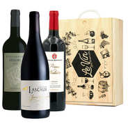 BienManger paniers garnis - Coffret bois 3 vins bio