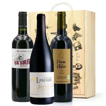 BienManger paniers garnis - Box of 3 organic red wines