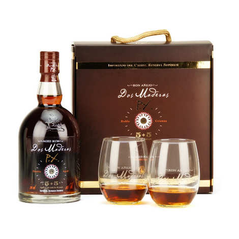 Bodegas William & Humbert - 2 glasses gift box Dos Maderas rum PX 5+5