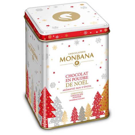 Monbana Chocolatier - Chocolat en poudre aux épices de Noël en cadeau