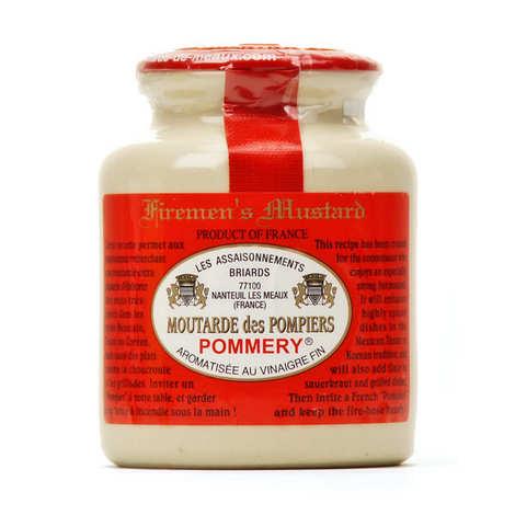 Les assaisonnements Briards - Moutarde des Pompiers (très forte) au vinaigre Pommery