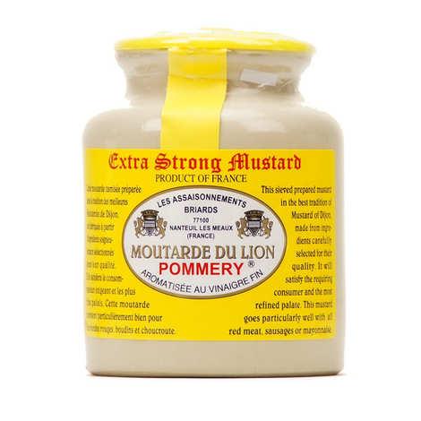 Les assaisonnements Briards - Moutarde du Lion extra forte au vinaigre Pommery